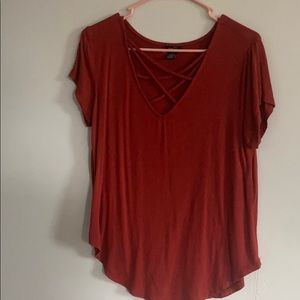 V cross neck